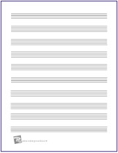 music writing paper