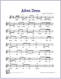 Dramatic image within free printable drum sheet music