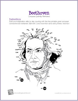 math worksheet : ludwig van beethoven  multiplication connect the dot worksheet : Multiplication Fun Worksheet