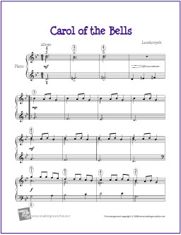 Carol of the bells free sheet music for piano