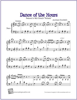Dance Of The Hours Fantasia Free Easy Piano Sheet Music