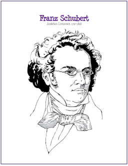 Schubert Coloring Page