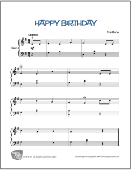 Happy Birthday Free Sheetmusic For All Instruments And Voice Pictures ...