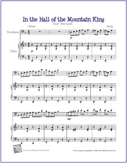 Preview and print this free printable trombone sheet music by clicking ...