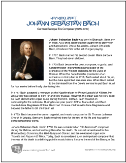 a biography of johann sebastian bach a musical genius Johann sebastian bach was better known as a virtuoso organist than as a composer in his day his sacred music, organ and choral works, and other instrumental music.