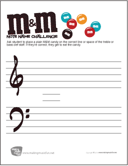 Worksheets Music Fun Worksheets music theory worksheets flash cards and games for kids mm challenge note name worksheet quiz students by asking them to place their candy on the correct treble or bass clef if the