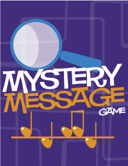 Mystery message game music game and printable lesson digital print