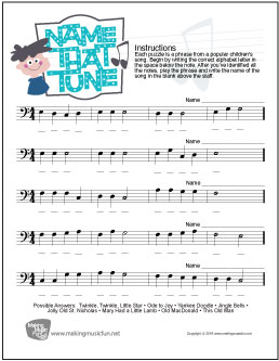 Worksheets. Bass Clef Worksheets. Opossumsoft Worksheets and ...