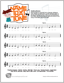 Music Theory Worksheets, Flash Cards, and Games for Kids