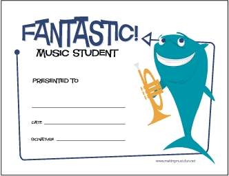 Fantastic Music Student (Charlie Playing Trumpet)