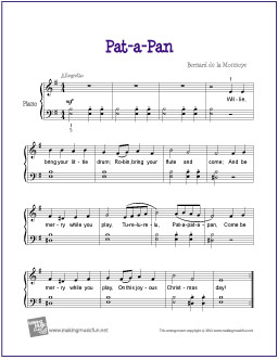 Pat A Pan Free Easy Piano Sheet Music