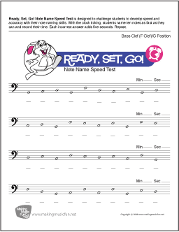 Ready, Set, Go! | Bass Clef Note Name Worksheet (Bass Clef: G Position ...