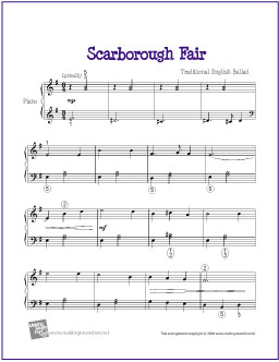 partition piano scarborough fair