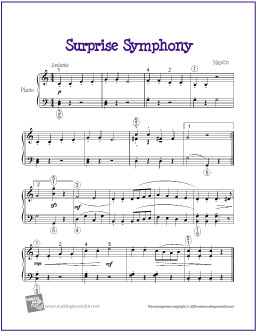 Surprise Symphony | Free Sheet Music for Piano