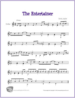 The Entertainer Guitar Lesson