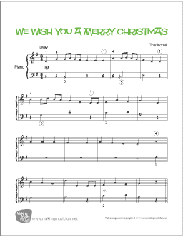 partition piano we wish you a merry christmas pdf